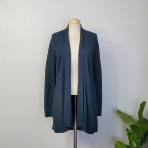 Eileen Fisher teal cardigan